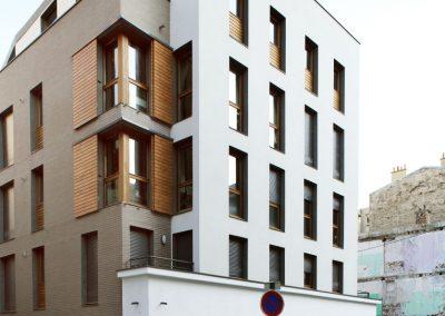 Construction de 36 logements sociaux et en accession sociale, atelier d'artiste et commerce,, rue du Nord, Paris XVIIIe
