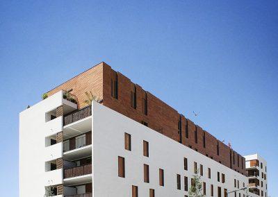 Construction de 49 logements  et locaux commerciaux, GPV la Duchère, Lyon