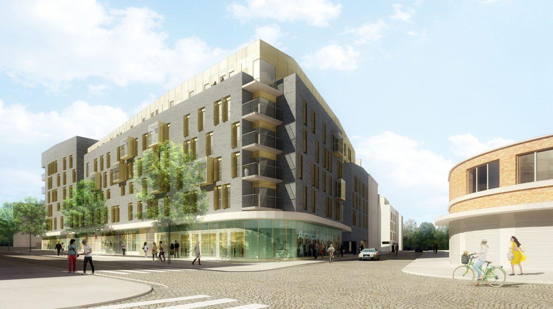 Construction de 107 logements sociaux et 770 m2 de commerces, ZAC centre-ville, Pantin