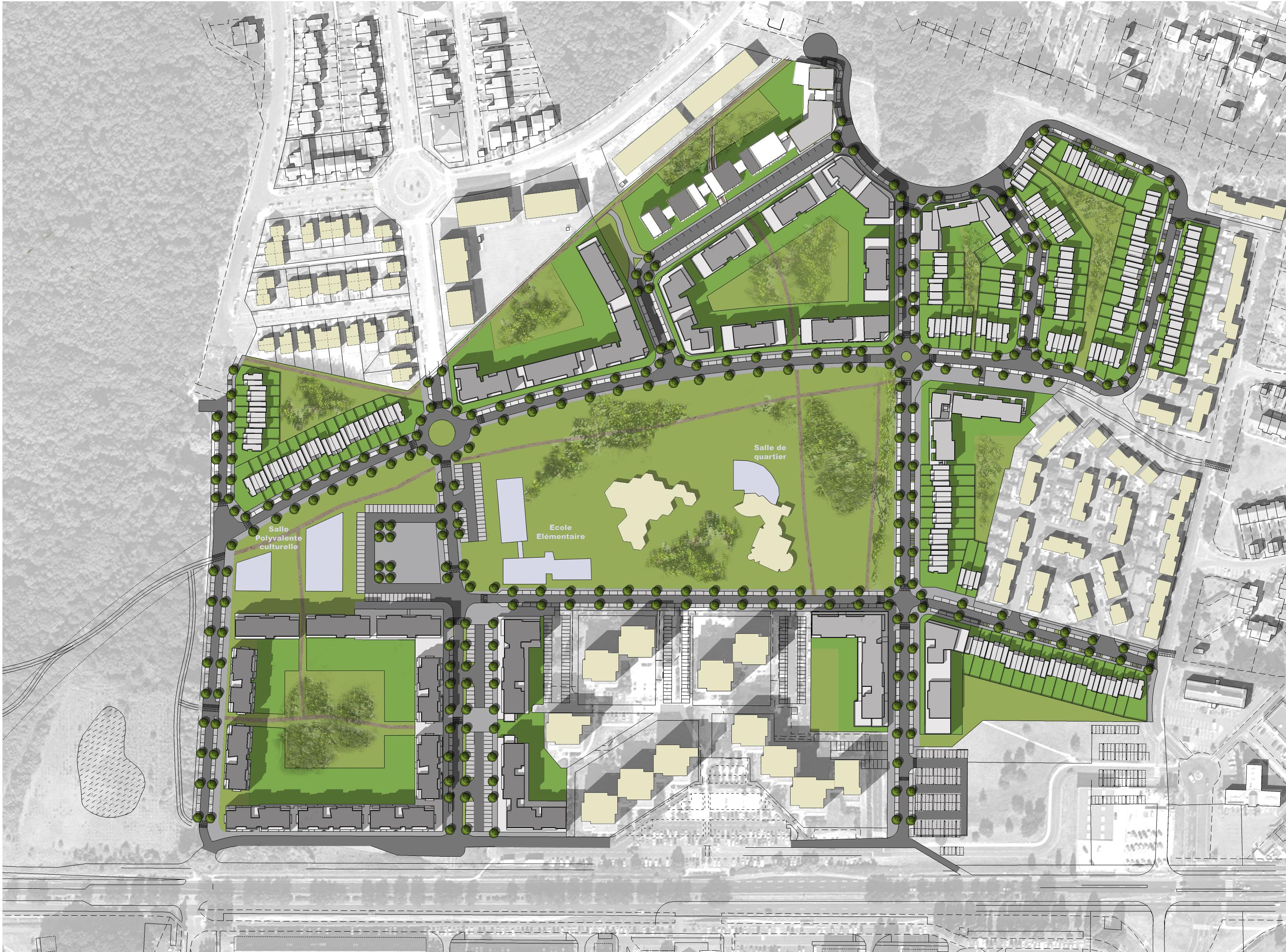 Conception de l 39 coquartier des joncs marins fleury m rogis for Conception architecturale definition